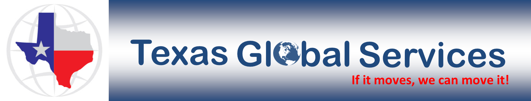 International Shipping Houston - Texas Global Services Logo and Tagline